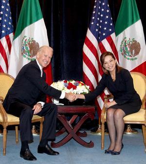 Josefina Vázquez Mota afirmó que el vicepresidente de Estados Unidos, Joseph Biden, ve con normalidad que México pueda tener una mujer presidenta.