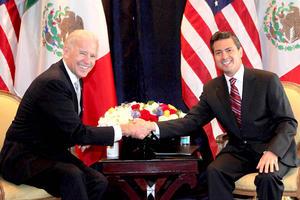 Enrique Peña Nieto, le aseguró al vicepresidente de Estados Unidos, Joseph Biden, que su compromiso y el de su partido es combatir al crimen organizado con una mejor eficacia.