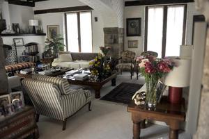 El novelista celebró en su casa del exclusivo barrio del Pedregal de San Ángel.
