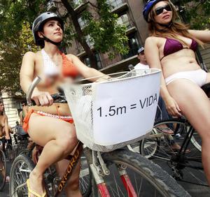 Exigen mejores condiciones de seguridad para transportarse en bicicleta.