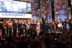 Celebración al final del evento.