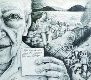 Selección del Jurado Luis Fernando López Ibarra Mis manos son parte del progreso, mis ojos testigos Grafito