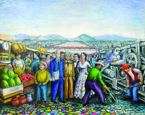 Primer Lugar. Juan Carlos Monreal Beltrán Sin título Acrílico