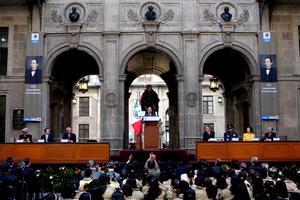 El presidente Felipe Calderón encabezó la Ceremonia del 206 aniversario del Natalicio de Benito Juárez.