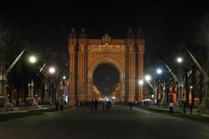 El Arco del Triunfo fue otro de los munumetos que se unieron al movimiento en Barcelona.