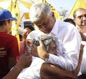 Andrés Manuel López Obrador visita al municipio de Jiutepec, en el estado mexicano de Morelos, como parte de su campaña electoral para los comicios del 1 de julio.