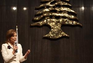 La candidata presidencial del PAN, Josefina Vázquez Mota, se reunió con la comunidad libanesa.