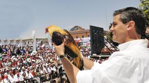Enrique Peña Nieto, encabezó un mitin en la Plaza Patria en Aguascalientes durante su campaña electoral.