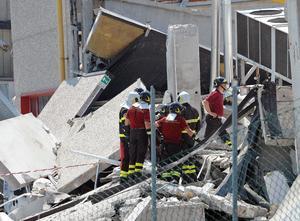 Muchas víctimas del nuevo sismo, se encontraban en el trabajo en grandes almacenes que se derrumbaron.
