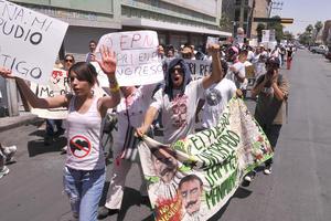 Probablemente sea la última marcha que puedan realizar antes de las elecciones del primero de julio en la región.