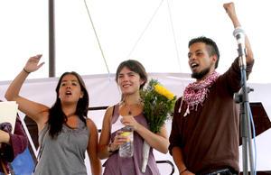 La activista chilena Camila Vallejo señaló que el actual movimiento estudiantil en México va más allá de la coyuntura electoral, pues tiene que ver más con el rol de los medios de comunicación, la democracia y el papel de la juventud.