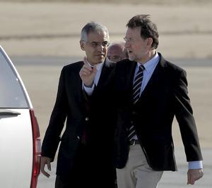 El presidente del gobierno español, Mariano Rajoy llegó a Los Cabos para reunirse con los líderes del G-20.