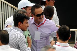Los pugilistas laguneros, Cristian Mijares y Marco 'Veneno' Rubio también acompañaron a Peña Nieto.
