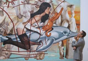 """Sus obras han sido calificadas de """"kitsch"""" y banales, pero en rueda de prensa Koons se defendió y dijo que eso son """"conceptos del prejuicio""""."""