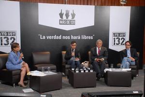 Un asiento vacío marcó, durante la hora y media del llamado #debate132 la ausencia de Enrique Peña Nieto, candidato por el PRI y Partido Verde, quien declinó su participación por considerar que no había condiciones de imparcialidad.