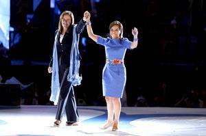 La primera dama, Margarita Zavala acompañó a Vázquez Mota y la presentó y aseguró que el 1 de julio, votará por Vázquez Mota porque ella nunca va a rendir a México contra los criminales.