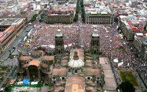 Obrador ofreció un discurso de más de una hora en el que hizo un recuento de sus propuestas.