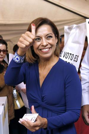 """Josefina Vázquez Mota hizo un llamado a la ciudadanía a que acuda a las urnas y lo haga """"sin miedo""""."""