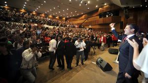 En el auditorio Plutarco Elías Calles de la sede nacional del Partido Revolucionario Institucional (PRI), anunció que durante el periodo de transición preparará las reformas que el país necesita.