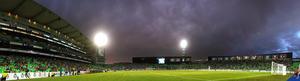 El juego se celebró en el Estadio Corona ante una entrada apenas regular.