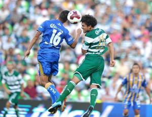 """Al minuto 72 Juan Pablo """"Chato'' Rodríguez envió un gran servicio para Hércules Gómez, que hizo una gran recepción de pie derecho y definió con el mismo pie para vencer a Óscar Pérez."""