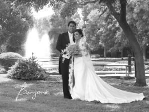 SRITA.  Nancy Guadalupe Gutiérrez Díaz y Sr. Ricardo Itzmat Ul Trejo Rodríguez el día de su enlace nupcial.- Benjamán Fotografía