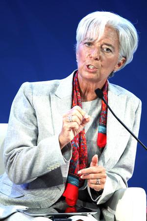 Christine Lagarde, directora gerente del FMI se encuentra en el lugar 8.