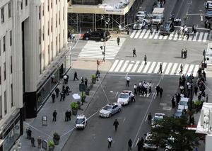 La escena del crímen. Un evento que pareciera sacado de una película de Hollywood. (AP)