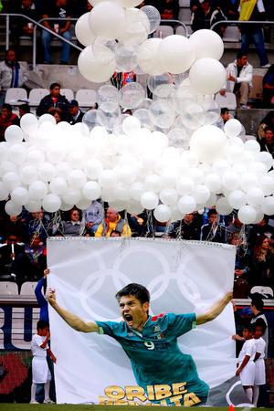 A Oribe Peralta, de Santos, Néstor Vidrio y Héctor Herrera del Pachuca, les rindieron un pequeño homenaje por la medalla de oro conseguida en los Juegos Olímpicos de Londres.