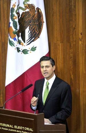 En su discurso ante el Tribunal, Peña Nieto dijo que los contendientes en la elección deben respetar los resultados.