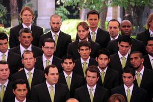 La escuadra completa de los Santos de Torreon asistió a la ceremonia.