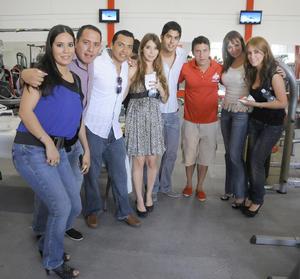 08092012 CONVIVENCIA.  Diana, Dieter, Luis Fernando, Fernanda, Memo, Irasema y Paola.