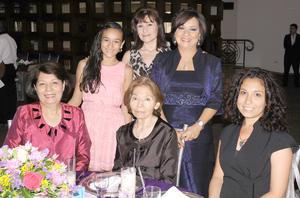 08092012 NORMA  Montiel, Marla García, Norma de Murgia, Sara de la Garza, Trisha Lee y Cecy Barbosa.