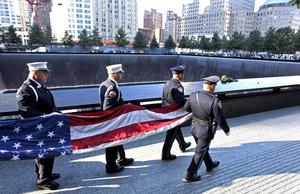Al igual que en años anteriores, miles de personas se reunieron en el Centro Mundial de Comercio de Nueva York.
