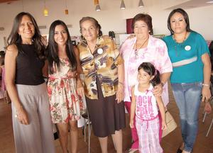 12092012 BETY , Diana, Esperanza, Esperanza, una pequeñita y Paty.