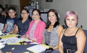14092012 ASISTEN A CURSO.  Daniel Alonso, Araceli García Silva, Magda Rendón, Lourdes Lozano e Irma Segovia.