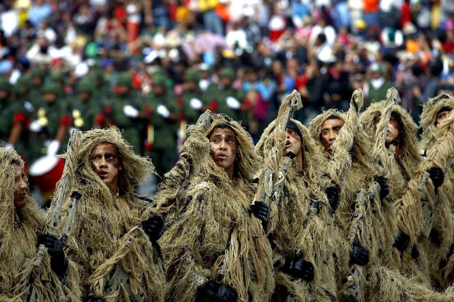capitalinos difrutaron desfile presentaron distintas fuerzas militares