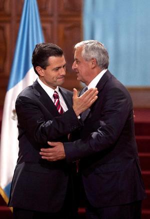 Enrique Peña Nieto, y el gobernante guatemalteco Otto Pérez Molina, abogaron por impulsar las relaciones bilaterales y nuevas acciones conjuntas para el desarrollo de ambas naciones.