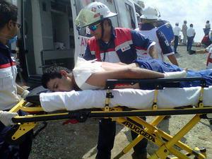 Algunos heridos fueron llevados al Hospital Materno Infantil, al Hospital General, al Seguro Social, a la clínica Las Fuentes, a la clínica de Pemex y al Hospital Cristus Muguerza.