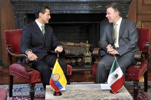 En una declaración conjunta que ofrecieron a la prensa, al concluir la reunión, Peña Nieto y Santos anunciaron que se acordó continuar la cooperación en materia de criminalidad para alcanzar una mayor efectividad.
