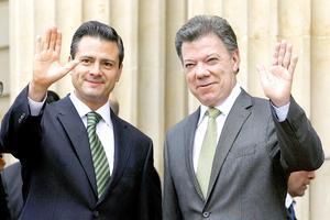 En el encuentro que sostuvieron  en la presidencial Casa de Nariño, Peña Nieto y Santos consideraron que la colaboración internacional es esencial para lograr una mayor efectividad en los esfuerzos por reducir la criminalidad.