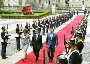 """Al dar la bienvenida al futuro presidente, la canciller colombiana María Angela Holguín dijo que para este país México es de """"gran importancia"""", no solo por la relación comercial activa que mantienen sino también por la cooperación en temas como la seguridad."""