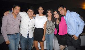 21092012 FIESTA EN EL CLUB.  Manuel, Jorge, Elba, Cinthia, Paola y Eduardo.
