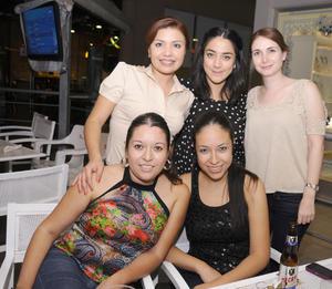 23092012 CRISTY  Campo, Norma Ibarra, Isabel Cisneros, Karla Eppen y Maribel Ortiz.