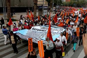 Trabajadores de distintos sindicatos se manifestaron en varios estados contra la reforma laboral que que se procesa en la Cámara de Diputados.
