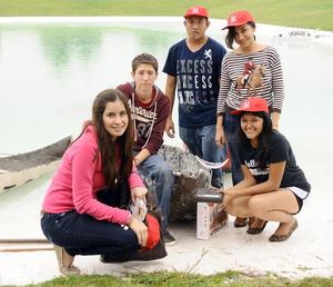 30092012 ANAGABY  Medina, Vicente Arredondo, Carlos Ramos, Paola Velázquez y Sofía Torres.