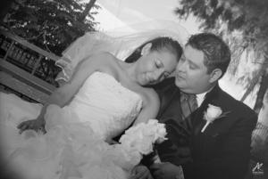 SRITA. ANNY Mena Orozco y Sr. Gerardo Alcaraz Sierra, el día de su boda.
