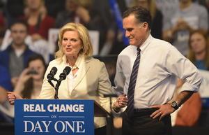 """""""Si creen que podemos hacerlo mejor, si creen que Estados Unidos debería estar en un mejor camino, si están cansados de estar cansados, entonces les pido trabajar y votar por el cambio"""", dijo Romney, dando la vuelta a un eslogan que utilizó Obama en su campaña de 2008."""