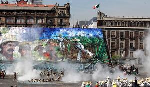 Se escenificaron algunas etapas emblemáticas alusivas a la fiesta revolucionaria.