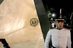 El mausoleo fue edificado a un lado del Campo Marte, en la ciudad de México.